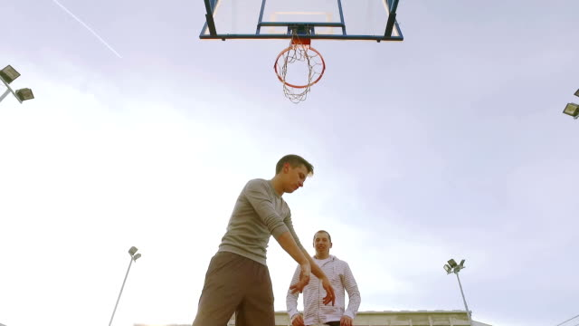 playing basketball. - offense sporting position stock videos and b-roll footage