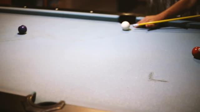 playing billiard - ball stock videos & royalty-free footage