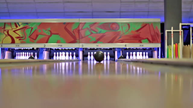 playing bowling - bowling alley stock videos & royalty-free footage