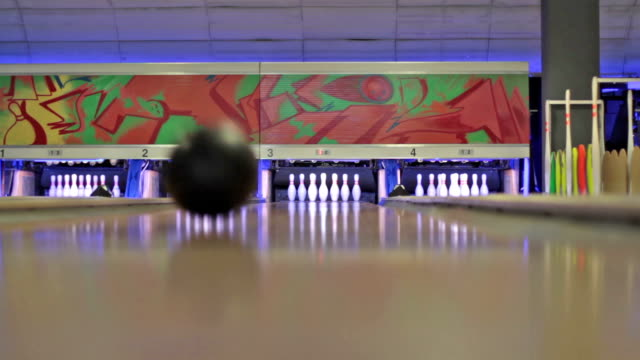 playing bowling - pjphoto69 stock videos & royalty-free footage