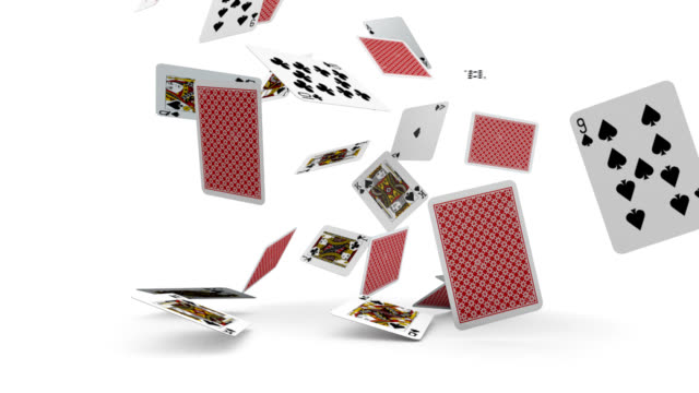 playing cards falling - cards stock videos and b-roll footage