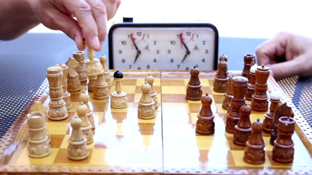 playing chess on the time - chess stock videos & royalty-free footage