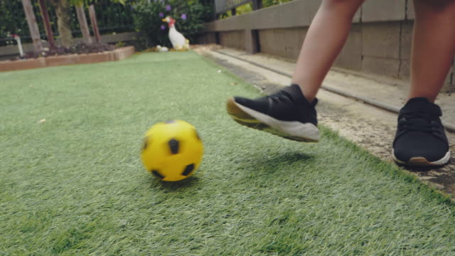 playing football at garden - baby boys stock videos & royalty-free footage