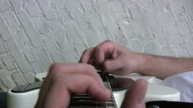 playing guitar, hand pov (hd) - pop musician stock videos & royalty-free footage