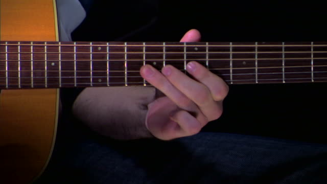 playing guitar into microphone - musical symbol stock videos & royalty-free footage