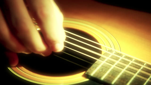 playing guitar (close-up hand) - fretboard stock videos & royalty-free footage