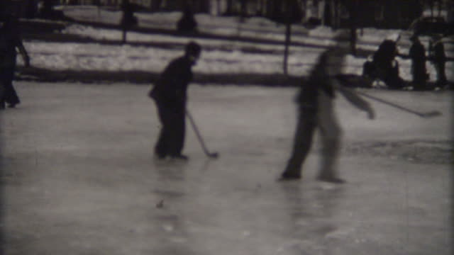Playing Hockey 1940