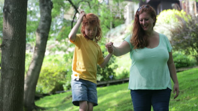 playing in the back yard - tightrope walking stock videos & royalty-free footage