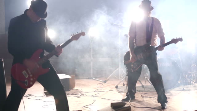 playing in the old fashion style - punk music stock videos and b-roll footage