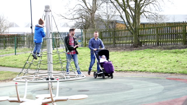 playing in the park - adoption stock videos and b-roll footage