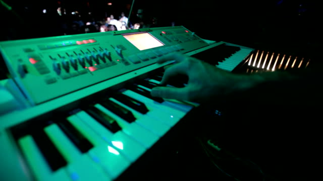 playing keyboard - synthesizer stock videos & royalty-free footage