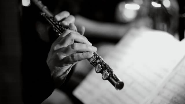 Live-jazz-Konzert zu spielen: Querflöte