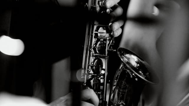 playing live jazz concert: saxophone - practising stock videos & royalty-free footage