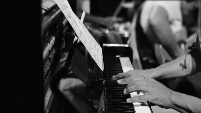 playing live jazz concert: the piano - jazz video stock e b–roll