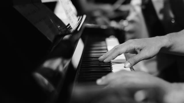playing live jazz concert: the piano - classical stock videos & royalty-free footage
