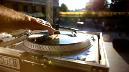 DJ Playing Music At Outdoor Party