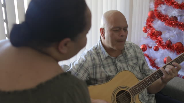 playing my guitar for my wife - pacific islander stock videos & royalty-free footage