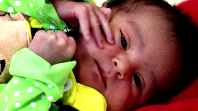 playing newborn baby - video portrait stock videos & royalty-free footage