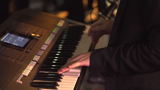 playing on the keyboard - piano key stock videos & royalty-free footage
