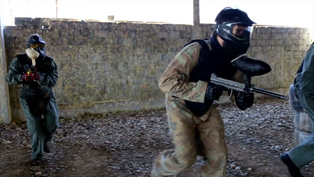 Playing paintball is fun