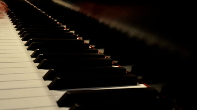suona il pianoforte time lapse-loopable 01 - due oggetti video stock e b–roll