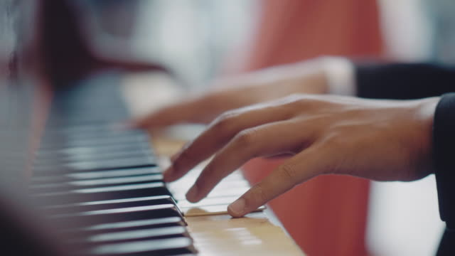 playing piano - piano stock videos & royalty-free footage
