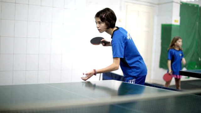 playing ping pong - table tennis stock videos & royalty-free footage