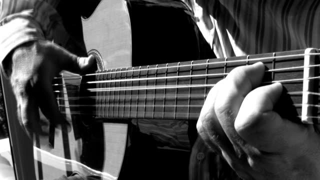 playing sevillanas - flamenco dancing stock videos & royalty-free footage