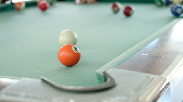 プール table.missing スコアのスヌーカー ボールをプレー - キュー点の映像素材/bロール