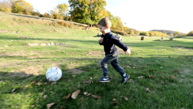 playing soccer - sports equipment stock videos & royalty-free footage