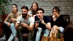 Playing some video games with friends