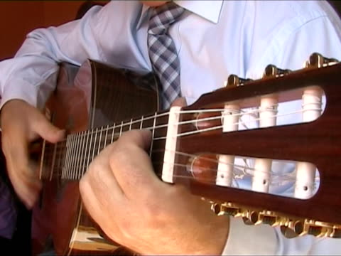 playing spanish guitar - original sound included - flamenco dancing stock videos & royalty-free footage