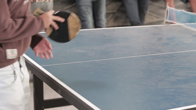 playing table tennis - table tennis bat stock videos & royalty-free footage