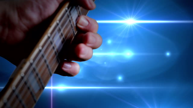 playing the guitar on stage. hd - fretboard stock videos & royalty-free footage