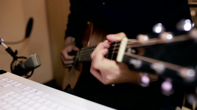 playing the guitar - composer stock videos & royalty-free footage