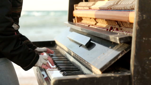 playing the old piano - formal glove stock videos & royalty-free footage
