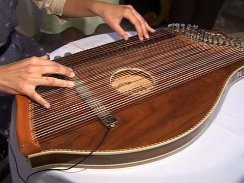 playing the zither - människofinger bildbanksvideor och videomaterial från bakom kulisserna