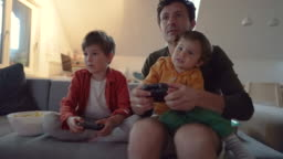 Playing video games with my boys