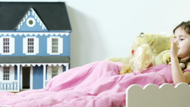 playing with dolls - dollhouse stock videos & royalty-free footage