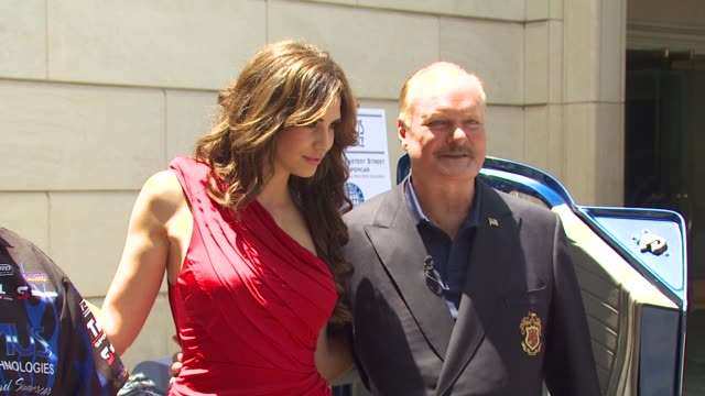 playmate of the year hope dworaczyk and bruce mcmahan at the new and improved maxximus g force the world's fastest car unveiled at beverly hills ca - mahan stock videos & royalty-free footage