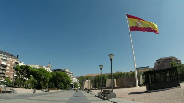 plaza colon - spanish flag stock videos and b-roll footage