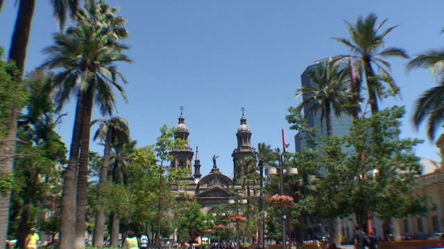 plaza de armas - santiago, chile - chile stock videos and b-roll footage