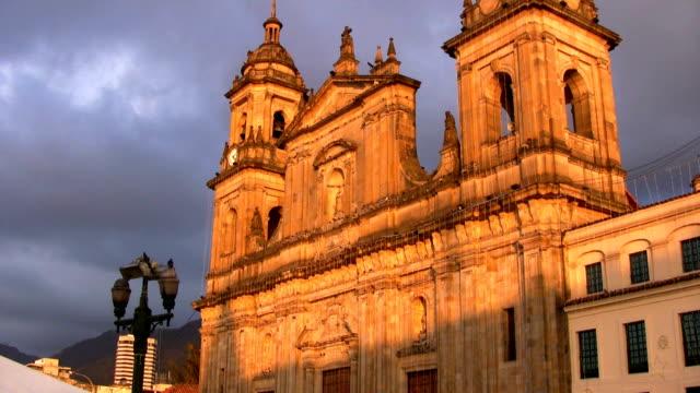 hd: plaza de bolivar church - bogota stock videos & royalty-free footage