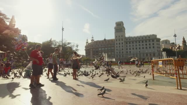 Plaza de Catalunya in Barcelona, Spain