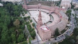 Plaza de Espana at Sevilla with park