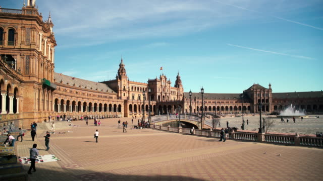 Plaza de Espana, Seville, Andalucia, Spain