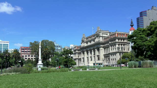 plaza lavalle-buenos aires, argentina - argentinian culture stock videos & royalty-free footage