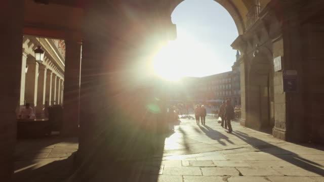plaza mayor in madrid - madrid stock videos & royalty-free footage