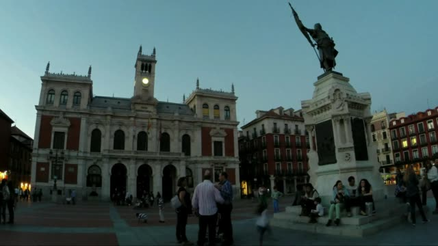 plaza mayor valladolid - courtyard stock videos & royalty-free footage