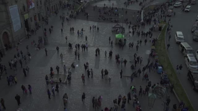 plaza murillo - la paz - bolivia - la paz bolivia stock videos & royalty-free footage